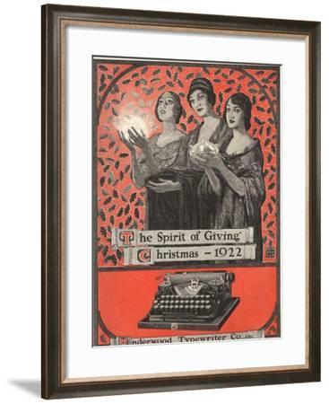 Underwood, Underwood Typewriters, USA, 1920--Framed Giclee Print