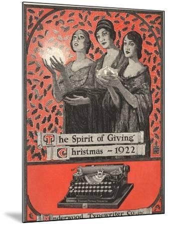 Underwood, Underwood Typewriters, USA, 1920--Mounted Giclee Print