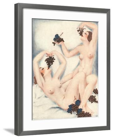 Le Sourire, Erotica Wine Grapes Sex Magazine, France, 1930--Framed Giclee Print