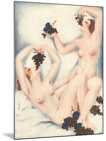 Le Sourire, Erotica Wine Grapes Sex Magazine, France, 1930--Mounted Giclee Print