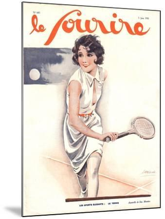 Le Sourire, Tennis Womens Magazine, France, 1930--Mounted Giclee Print