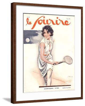 Le Sourire, Tennis Womens Magazine, France, 1930--Framed Giclee Print