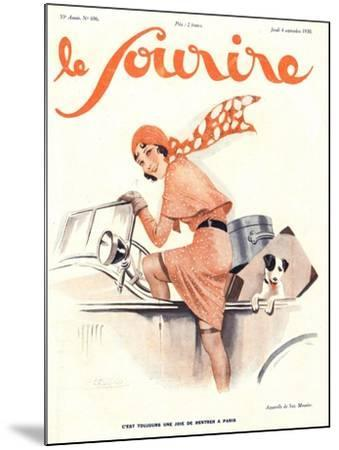 Le Sourire, Car Magazine, France, 1930--Mounted Giclee Print