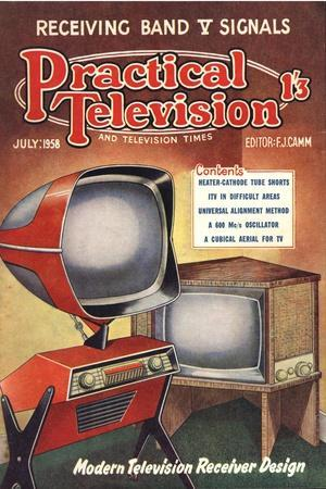 Practical Television, Visions of the Future, Televisions DIY Futuristic Magazine, UK, 1950--Stretched Canvas Print