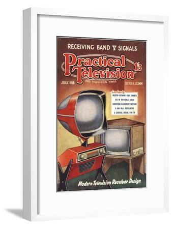 Practical Television, Visions of the Future, Televisions DIY Futuristic Magazine, UK, 1950--Framed Giclee Print