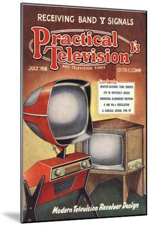 Practical Television, Visions of the Future, Televisions DIY Futuristic Magazine, UK, 1950--Mounted Giclee Print