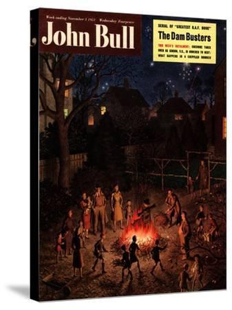 John Bull, Guy Fawkes Fireworks Bonfires Magazine, UK, 1951--Stretched Canvas Print