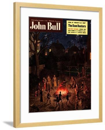 John Bull, Guy Fawkes Fireworks Bonfires Magazine, UK, 1951--Framed Giclee Print