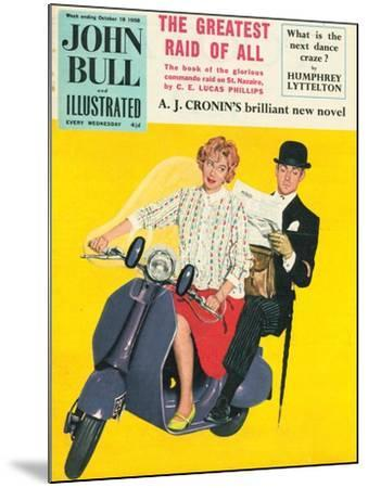John Bull, Scooters City Gents Bowler Hats Commuters Magazine, UK, 1958--Mounted Giclee Print
