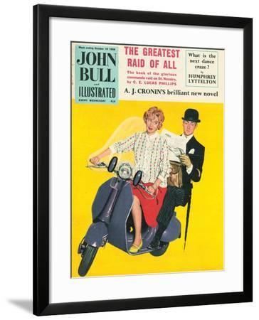 John Bull, Scooters City Gents Bowler Hats Commuters Magazine, UK, 1958--Framed Giclee Print