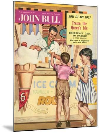 John Bull, Holiday Ice-Cream Magazine, UK, 1950--Mounted Giclee Print