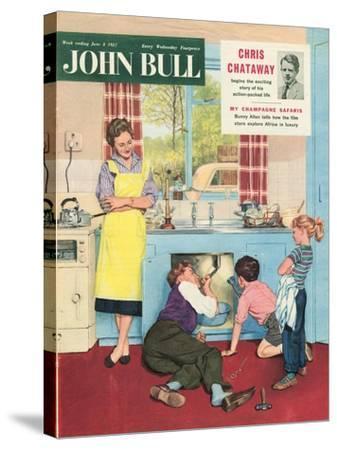John Bull, Plumbers Plumbing DIY Mending Kitchens Sinks Magazine, UK, 1950--Stretched Canvas Print