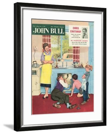 John Bull, Plumbers Plumbing DIY Mending Kitchens Sinks Magazine, UK, 1950--Framed Giclee Print