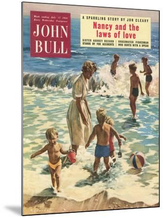 John Bull, Holiday Beaches, Paddling Inflatables, Beach Balls Magazine, UK, 1950--Mounted Giclee Print