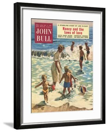 John Bull, Holiday Beaches, Paddling Inflatables, Beach Balls Magazine, UK, 1950--Framed Giclee Print