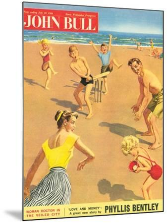 John Bull, Holiday Cricket Beaches Seaside Magazine, UK, 1950--Mounted Giclee Print