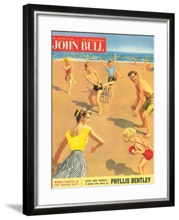 John Bull, Holiday Cricket Beaches Seaside Magazine, UK, 1950--Framed Giclee Print