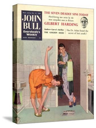 John Bull, Diets Slimming Weight Loss Exercise Keep Fit Magazine, UK, 1950--Stretched Canvas Print