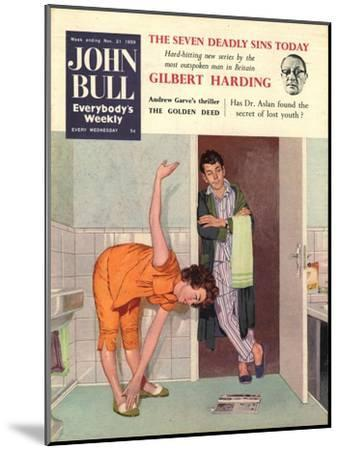 John Bull, Diets Slimming Weight Loss Exercise Keep Fit Magazine, UK, 1950--Mounted Giclee Print