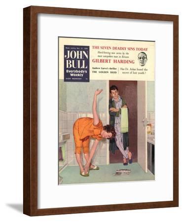 John Bull, Diets Slimming Weight Loss Exercise Keep Fit Magazine, UK, 1950--Framed Giclee Print