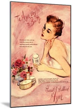 Make-Up Harriet Hubbard Ayer, UK, 1940--Mounted Giclee Print