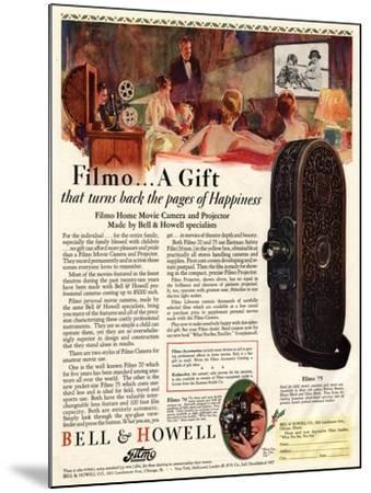 Cameras Cine Bell and Howell, USA, 1928--Mounted Giclee Print