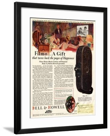 Cameras Cine Bell and Howell, USA, 1928--Framed Giclee Print