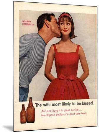 Kissing, Sex Discrimination, USA, 1950--Mounted Giclee Print