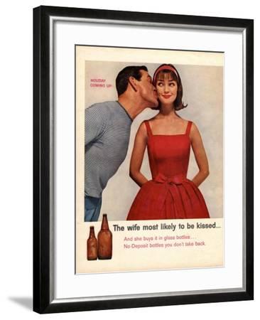 Kissing, Sex Discrimination, USA, 1950--Framed Giclee Print