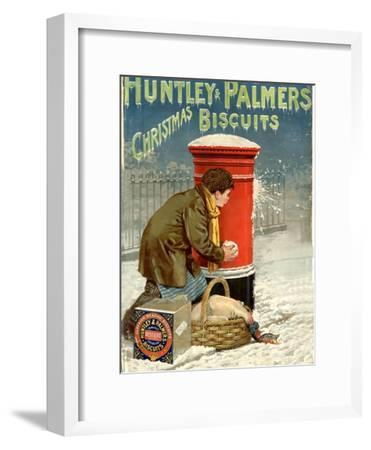 Huntley and Palmers, Biscuits Post Boxes, Snowballs, UK, 1890--Framed Giclee Print