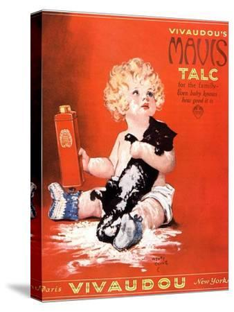 Mavis Talc Cats Talcum Powder, USA, 1920--Stretched Canvas Print