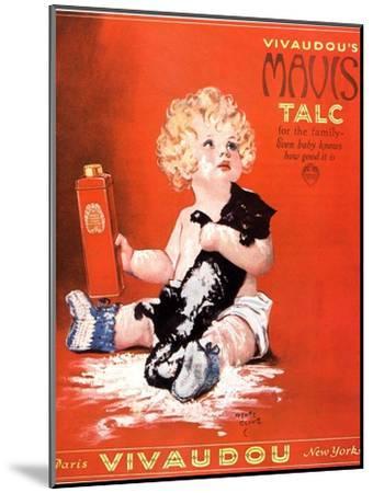 Mavis Talc Cats Talcum Powder, USA, 1920--Mounted Giclee Print
