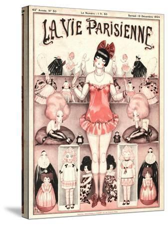La Vie Parisienne, Erotica Glamour Dolls Art Deco Magazine, France, 1924--Stretched Canvas Print