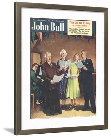 John Bull, Singing, Choirs Practice, the Villages Halls Magazine, UK, 1951--Framed Giclee Print