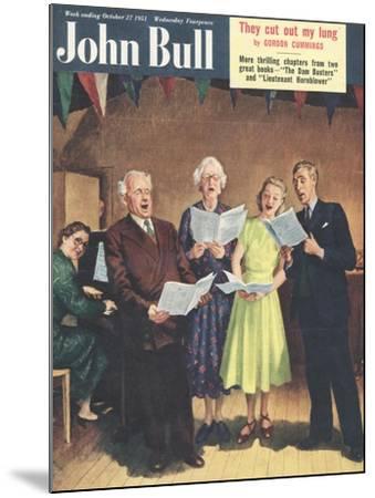 John Bull, Singing, Choirs Practice, the Villages Halls Magazine, UK, 1951--Mounted Giclee Print