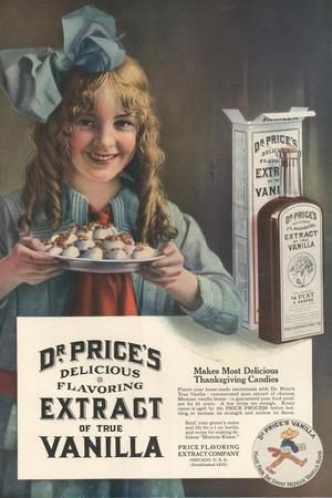 Dr Price's extract of Vanilla, USA, 1914--Stretched Canvas Print