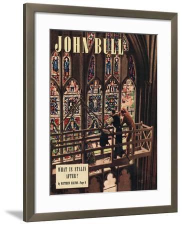 John Bull, Churches Stained Glass Windows Repairs Magazine, UK, 1948--Framed Giclee Print