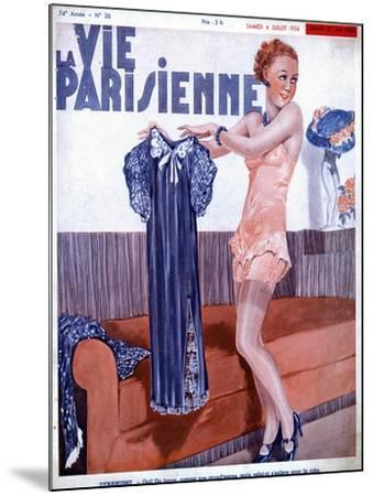 La Vie Parisienne, Dressing Underwear Erotica Magazine, France, 1936--Mounted Giclee Print