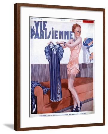 La Vie Parisienne, Dressing Underwear Erotica Magazine, France, 1936--Framed Giclee Print