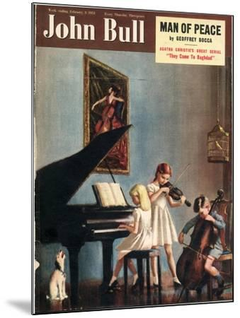 John Bull, Pianos Instruments Playing Cellos Violins Dogs Magazine, UK, 1951--Mounted Giclee Print