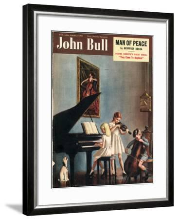 John Bull, Pianos Instruments Playing Cellos Violins Dogs Magazine, UK, 1951--Framed Giclee Print