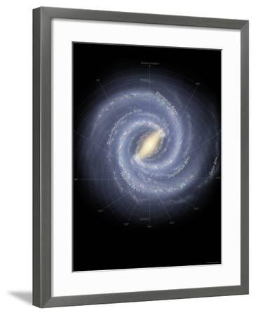 Milky Way Galaxy-Stocktrek Images-Framed Photographic Print