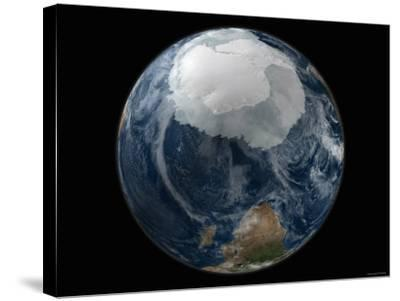 Full View of the Earth with the Full Antarctic Region Visible-Stocktrek Images-Stretched Canvas Print
