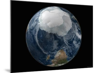 Full View of the Earth with the Full Antarctic Region Visible-Stocktrek Images-Mounted Photographic Print
