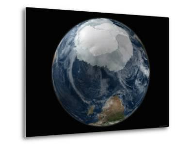 Full View of the Earth with the Full Antarctic Region Visible-Stocktrek Images-Metal Print