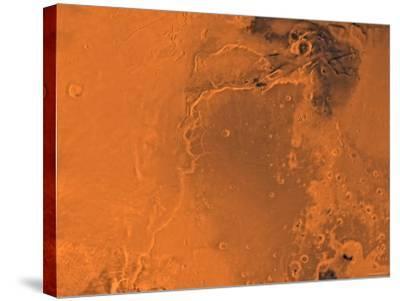 Lanae Palus Region of Mars-Stocktrek Images-Stretched Canvas Print