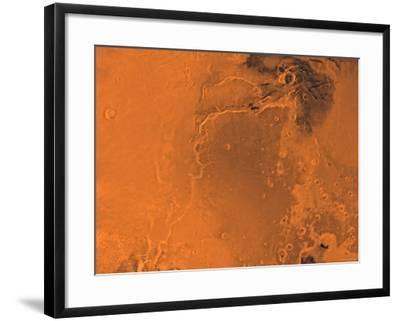 Lanae Palus Region of Mars-Stocktrek Images-Framed Photographic Print