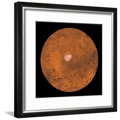 Mare Australe Region of Mars-Stocktrek Images-Framed Photographic Print