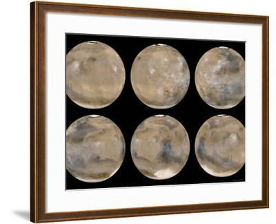 Mid-Northern Summer/Southern Winter on Mars-Stocktrek Images-Framed Photographic Print