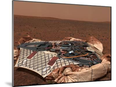 Rover's Landing Site, the Columbia Memorial Station, at Gusev Crater, Mars-Stocktrek Images-Mounted Photographic Print